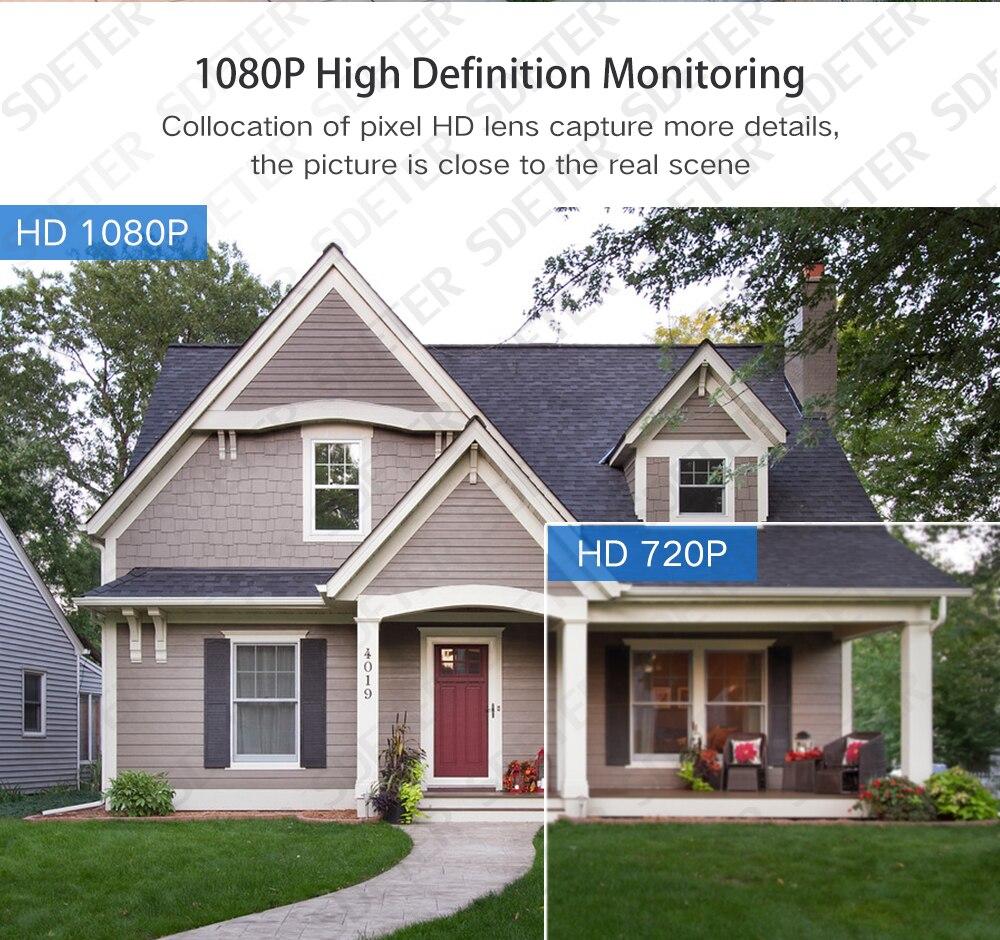 H1123970d9a594c878011433c6fb26ac54 SDETER WiFi Outdoor Security Camera 1080P IP Camera WIFI Waterproof Wireless CCTV Camera Night Vision Audio Motion Alarm P2P Cam
