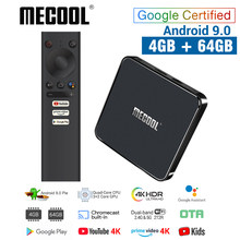 MECOOL KM1 Android 9.0 TV Box 4GB RAM 64GB ROM Amlogic S905X3 2.4G/5G WiFi 4K BT4.2 Voice Control Google Certified TV box(China)