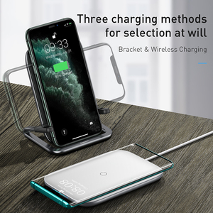 Image 5 - Baseus 15W Fast Qi Wireless Charger Desktop Holder Wireless Charger Pad For iPhone11XS X Max For SamsungS10 S9 Stand Charger