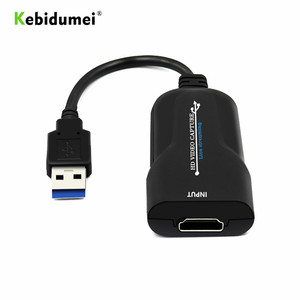 kebidumei Hdmi Video Capture Card USB 2.0 HDMI Grabber Record Box For PS4 Game DVD Camcorder HD Camera Recording Live Streaming