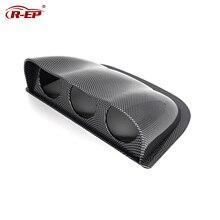 R EP Auto Auto 52mm Gauge Halter Pod Universal 3 Dash Dome Hood Mount Kunststoff Einzigen Schwarz Curved Carbon XH 6188