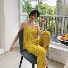 ฤดูร้อนเสื้อยาวกางเกงเซ็กซี่บ้านบริการชุดPlus SizeชุดนอนPijama Mujer Invierno Stitch Nightชุด