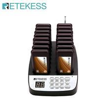 Retekess T113 ile restoran çağrı cihazı 16 çağrı alıcıları Max 998 Buzzers restoran kilise kahve dükkanı konuk çağrı sistemi
