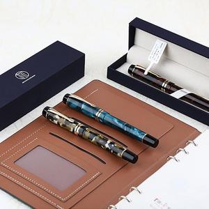 Image 5 - Moonman dispositivo M600S para práctica de llenado al vacío, doble Color, iridio, Punta fina, oficina, regalos para el hogar, pluma estilográfica, tinta lisa