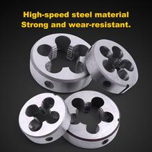 4Pcs HSS Hard Round Die Standrad Pipe Thread Die G1/2 G1/4 G1/8 G3/8 Inch for Water Pipe Thread Mold Machining Threading Tool