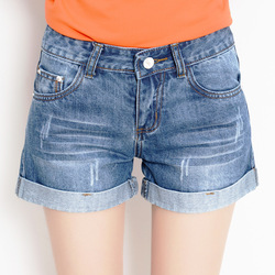 2020 new denim shorts female summer loose large size casual slimming fashion denim shorts high quality