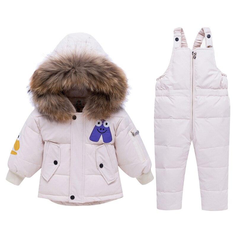 2019 Children Ski Suit Russian Winter Baby Boy Suit Duck Down Children Jacket for Girl Coat Overalls Warm Jacket Kid Boy Set
