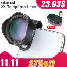 Объективы для телефона ULANZI 65 мм HD Telephoto Portrait с клипсой 17 мм для мобильных телефонов iPhone Samsung Android HUAWEI