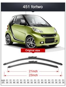Image 3 - 2x Suave Frameless Bracketless Borracha Car Windshield Wiper Blade 14   23 21 20 Acessórios Para Smart fortwo forfour 451 453