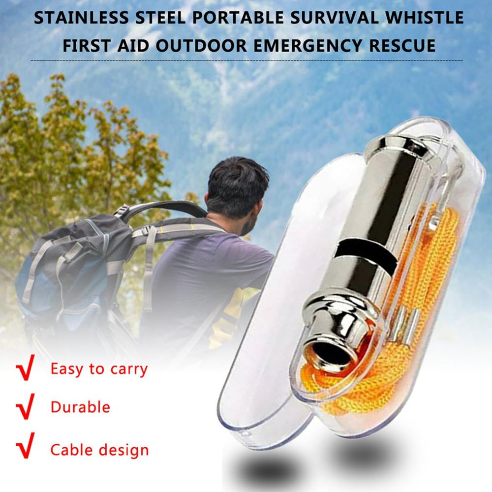 1Pcs Outdoor Survival First Aid Whistle Plastic  Soccer Football Basketball Hockey Baseball Sports Referee Whistle  With Box