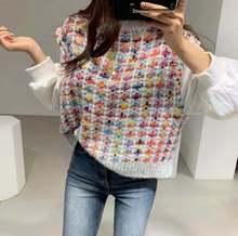 2020 Корейский Осенний пуловер с длинным рукавом Повседневный