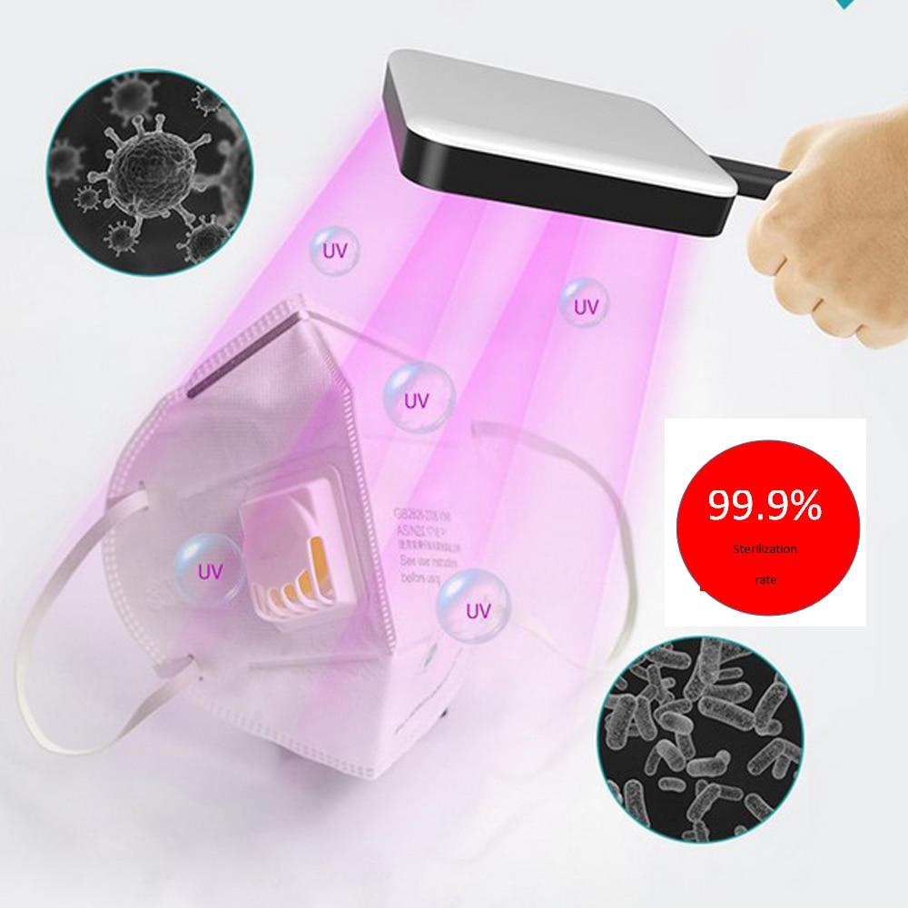 Rechargeable Sterilize UV-C Light 9 LED Germicidal UV Lamp Home Handheld Disinfection UVC Sterilizer USB Charging