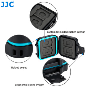 Image 4 - JJC Camera Memory Card Case Holder Storage Box Organizer for 4 SD SDHC SDXC 4 Micro SD TF Cards with Card Removal Tool & Lanyard