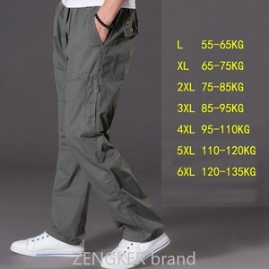 Image 4 - Lente zomer casual broek mannelijke big size 6XL Multi Pocket Jeans oversized Broek overalls elastische taille broek plus size mannen