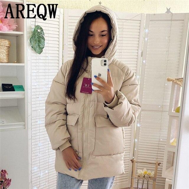 2020 automne hiver coton Parkas surdimensionné manteaux et vestes femmes vêtements d'extérieur à capuche veste bouffante 2