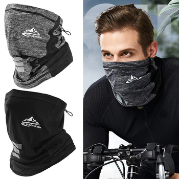 Защита от ультрафиолета, ледяной шелк, маска для лица, шейная трубка, спортивный шарф-бандана, дышащий шарф для походов