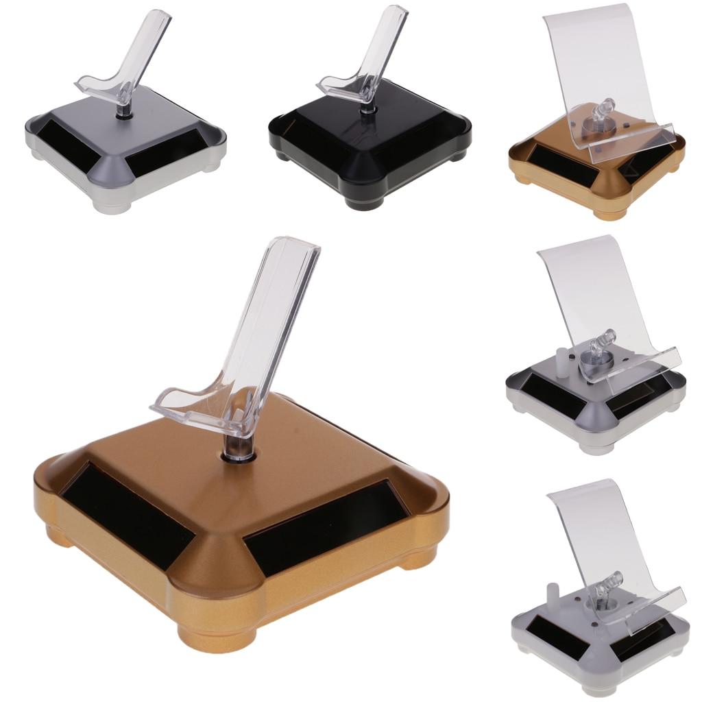 Solar Rotation Showcase Watches Jewelery Phone Camera Display Stand Bearing Turntable Rotating Tray