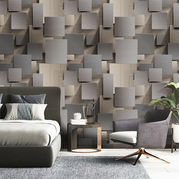 цены Modern 3D Lattice Non-woven Suede Wallpaper For Walls Roll  3D Living Room Bedroom TV Background Wall Paper Decor