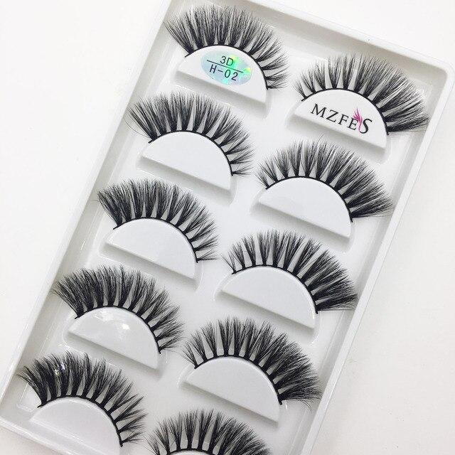 Wholesale 10/50 Boxes 3D Mink Eyelashes Natural Thick False Eye Lashes Mink Lashes Soft Fake Eyelash Wispy Makeup Cilios H13 2