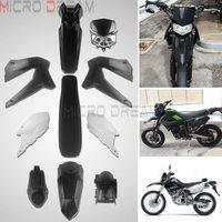 Motocross Plastic Fairing Bodywork Cover Kit For Kawasaki D Tracker X 250 KLX250 S/SF Dirt Bike Fender Guard Case Seat Fuel Tank