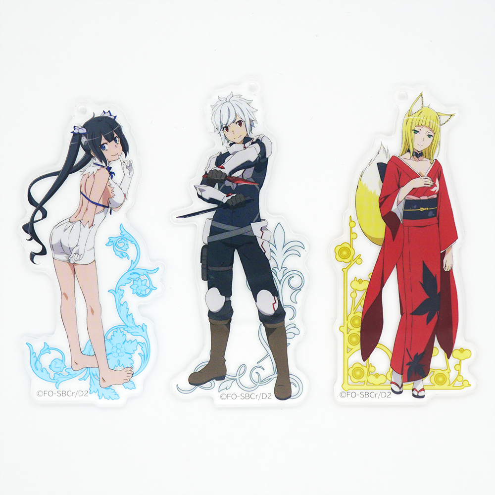 DanMachi Anime Is It Wrong To Try To Pick Up Girls In A Dungeon Hestia Bell Cranell Sanjouno Haruhime Acrylic Keychain