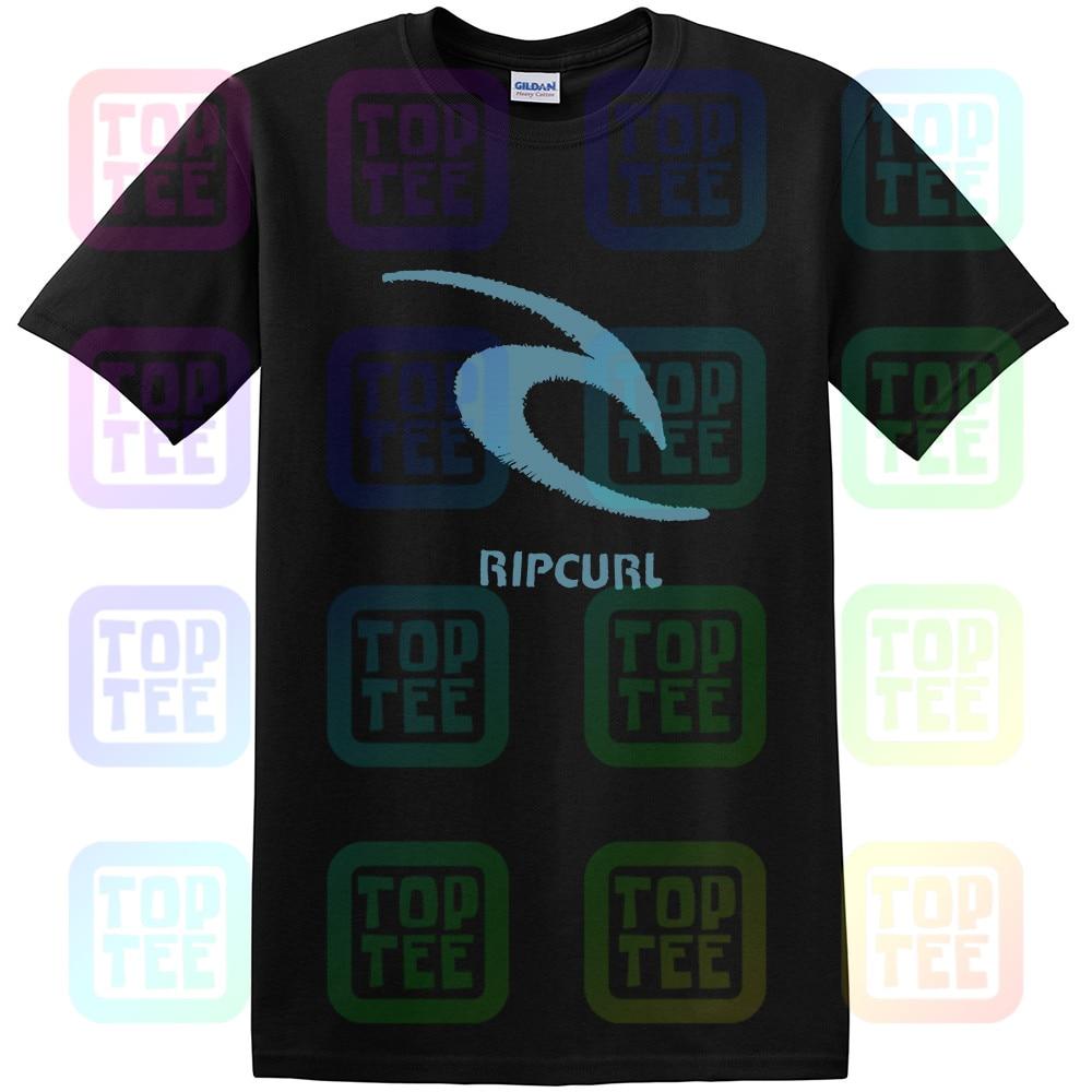 Rip Tee Curl Threaded Classic T-Shirt Black Mens New Unisex Size S-3XL