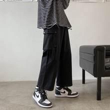 Брюки карго мужские с множеством карманов модные повседневные