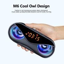 Bluetooth Speaker Fm-Radio Som Alarm-Clock Tf-Card Portable Wireless Cool LED Owl-Design