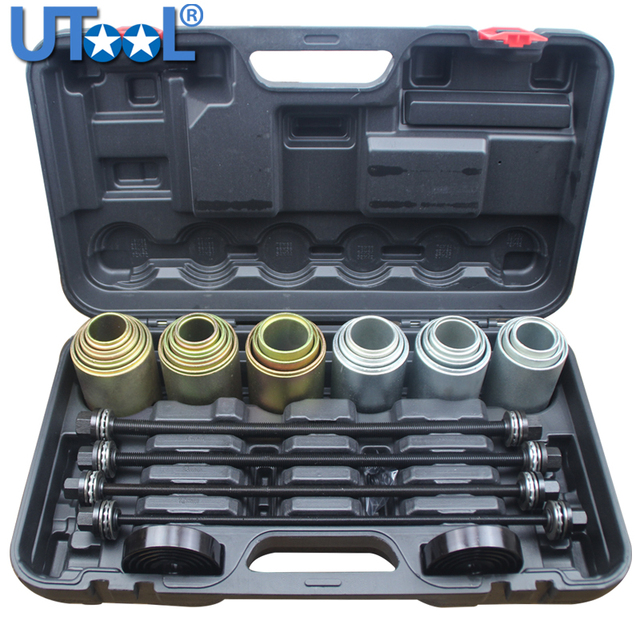 26Pc Universal Press and Pull Sleeve Remove Install Bushes & Bearings& Seals Tool Kit