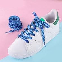 Мода принт квартира шнурки шнурки спорт обувь галстук высокий верх парусина кроссовки обувь шнурки шнурки унисекс обувь аксессуары новинка