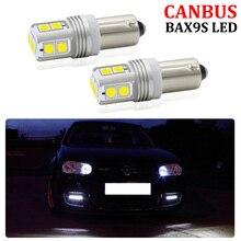 2 шт. CANBUS ОШИБОК BAX9S H6W Sidelight светодиодный фонарь для Volkswagen VW Golf R32 MK4 MK5 Audi TT Mk1 светодиодные лампы для парковки