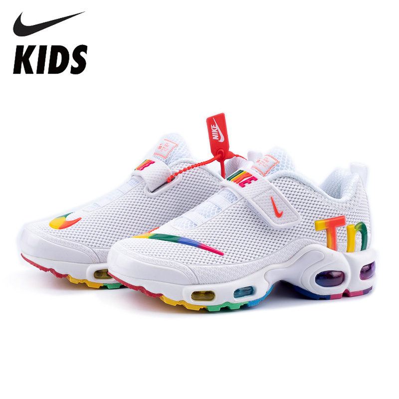 Nike Air Max Tn Kids Shoes Original New Arrival Children Comfortable Running Shoes Outdoor Sports Sneakers