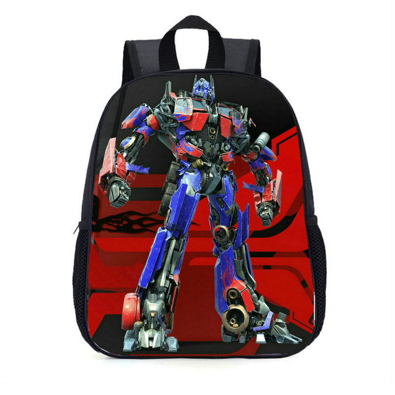 Backpack School Transformation Car Robot Cartoon Bumblebee Optimus Prime Megatron Decepticons School Bags Supplies High Quality