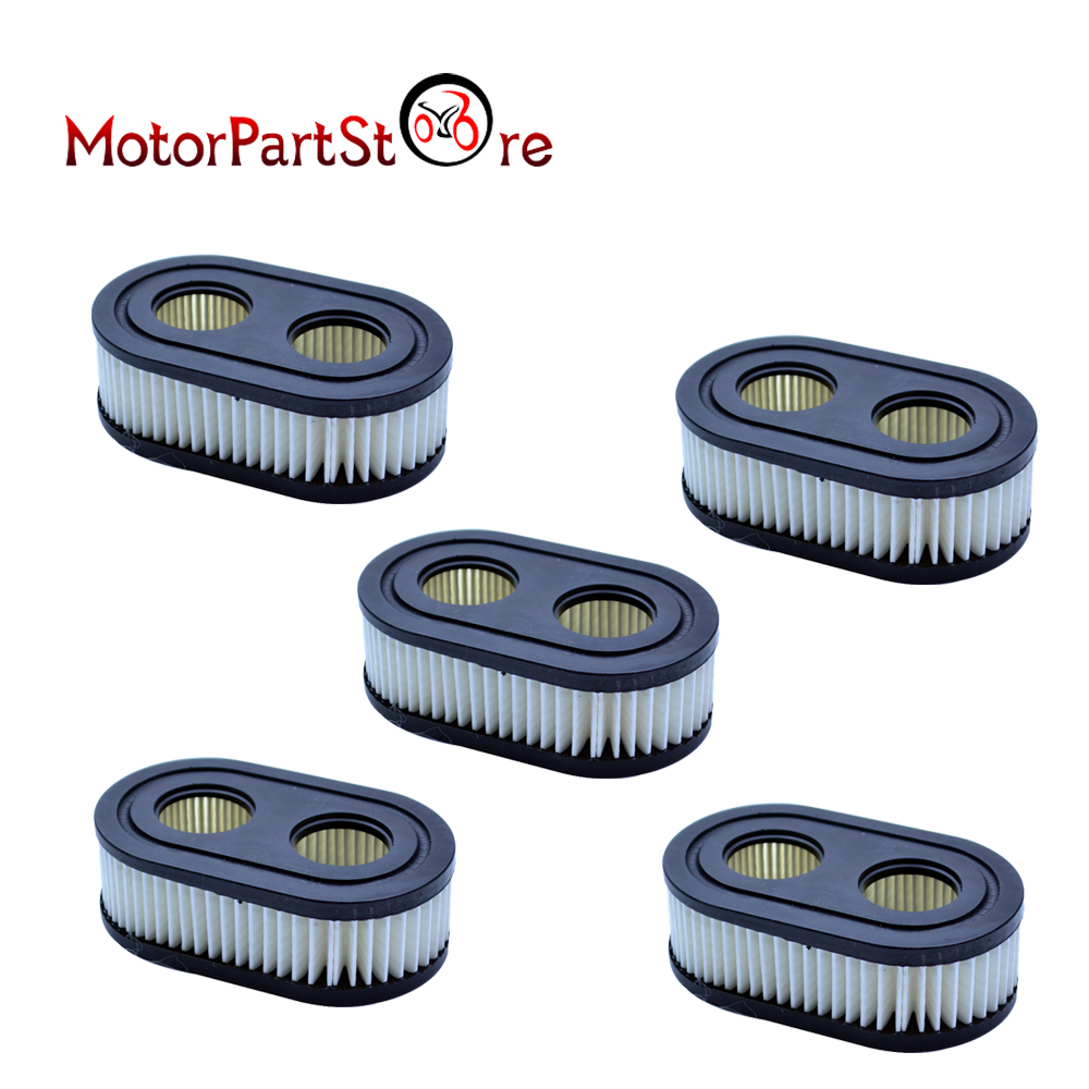 FLYPIG 5 Pcs Air Filter Cleaner For  B & S  4247 5432 798452 593260 For Oregon 30-168 Stens 102-851 Lawn Mower 09P702
