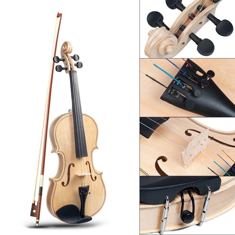 Acústico violino adulto estudante violino tamanho completo