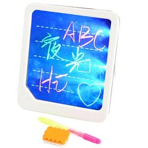 Горячая светодиодная Люминесцентная доска для рисования, Детские Веселые граффити, ручная роспись, планшет, доска для рисования, детские ра...