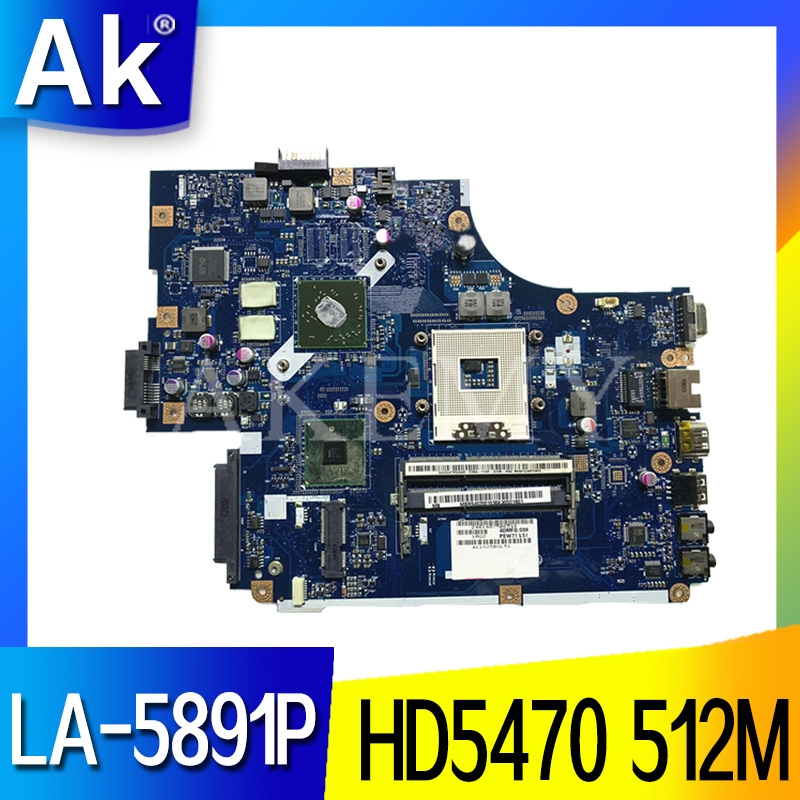 For Acer aspire 5741 5741G 5742 5742G Laptop motherboard NEW70 <font><b>LA</b></font>-<font><b>5891P</b></font> HM55 HD5470 512M DDR3 100% full Tested image