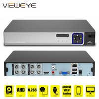 5MP AHD vídeo CCTV vigilancia DVR 4CH 8CH seguridad DVR NVR analógicos para AHD IP cámaras de red H.265 DVR de detección de la cara