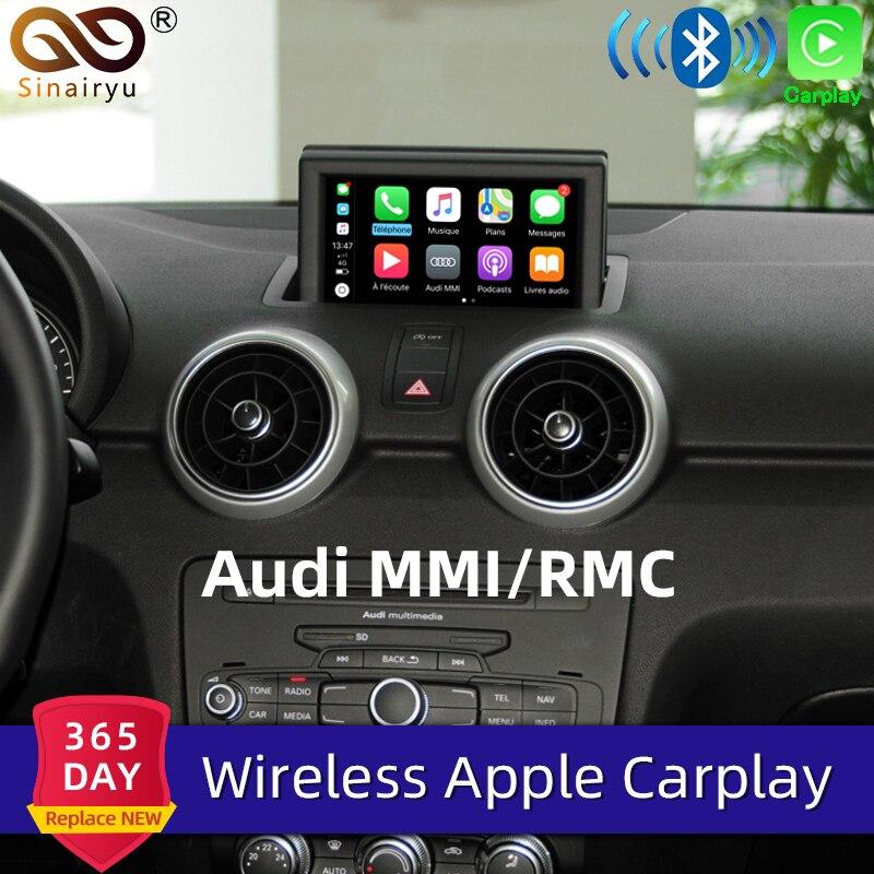 Sinairyu WIFI sans fil Apple Carplay pour Audi A1 A3 A4 A5 A6 A7 A8 Q3 Q5 Q7 C6 MMI 3G RMC 2010-2018 iOS Android miroir Auto