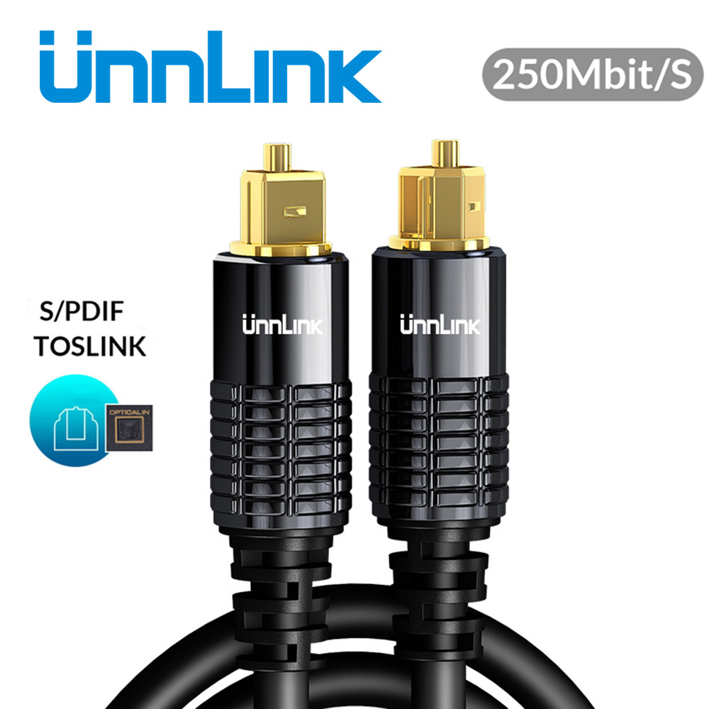 Unnlink HIFI 5.1 SPDIF Fiber Toslink Optical Cable Audio 1m 2m 8m 10m For TV Box PS4 Speaker Wire Soundbar Amplifier Subwoofer