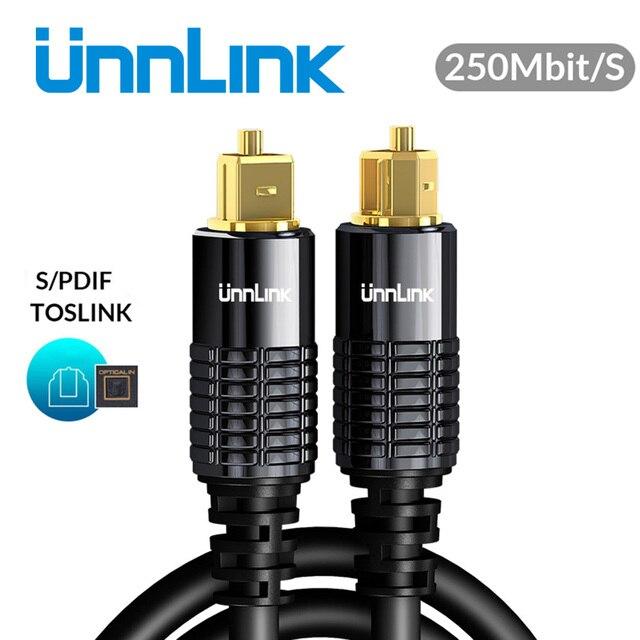 Unnlink HIFI 5.1 SPDIF Fiber Toslink Optical Cable Audio 1m 2m 8m 10m for TV box PS4 Speaker Wire Soundbar Amplifier Subwoofer