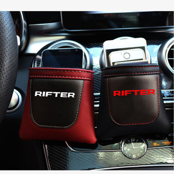 For Peugeot Rifter 1pc Pu Leather Bag Clip on Air Outlet Car Air Vent Stow Tidy Storage Car Phone Holder Car Accessories image
