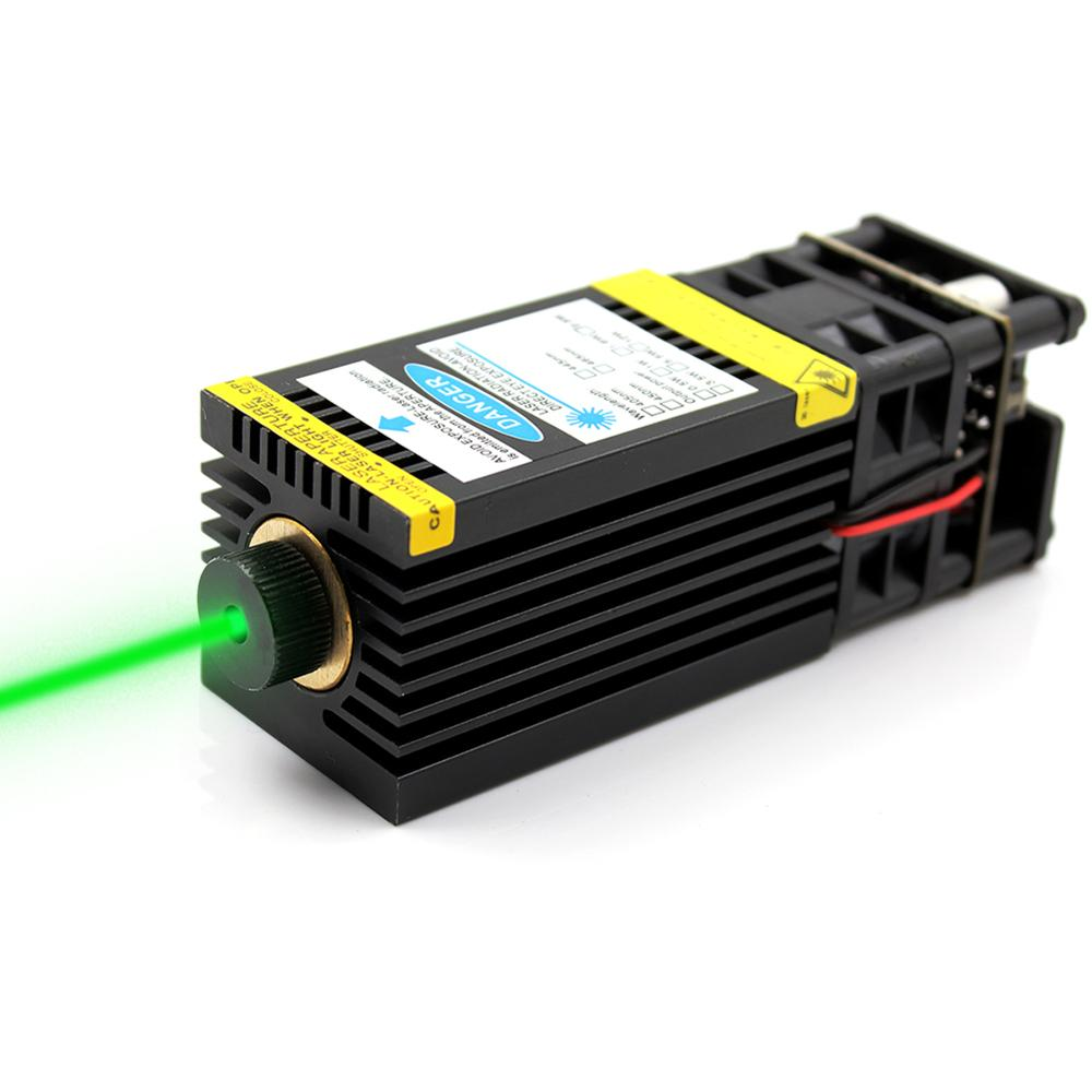 OXLasers 520nm 1W Green Laser Module 12V Focusable DIY Laser Head 1000mW Diode Laser For Stage Laser Bird Repellent