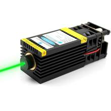 OXLasers 520nm 1W Green Laser Module 12V Focusable DIY Laser Head 1000mW Diode Laser for Stage Laser Bird Repellent(China)