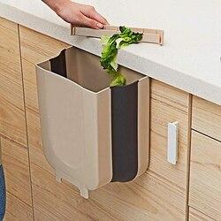 Szafka kuchenna powrót wiszący kosz na śmieci składany mały kosz na śmieci kosz na śmieci do drzwi do szafki kuchennej