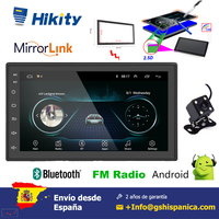 Hikity Android 6.0 Car Radio 2 Din with Bluetooth WIFI GPS FM Radio Receiver Rear Camera Car Stereo 7 Touch Screen MP5 Player