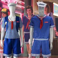 Cosplay Kostüm Fremden Dinge Saison 3 Robin Steve Harrington Scoops Ahoy Erwachsene männer/frauen Halloween Anzug Sailor Uniform