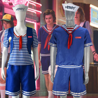 Cosplay Costume Stranger Things Season 3 Robin Steve Harrington Scoops Ahoy Adult men/women Halloween Suit Sailor Uniform