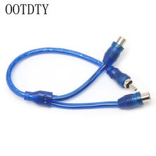 Car MP3 Audio RCA 1 Male to 2 Female Y Splitter Cable Adapter Cord(China)