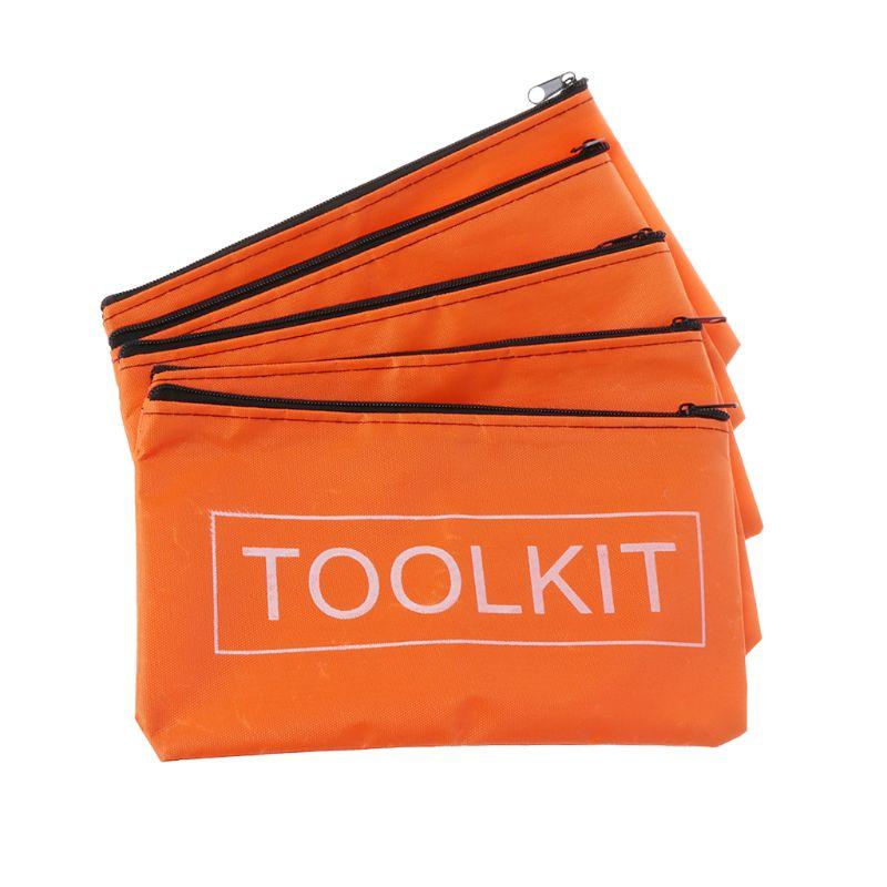 5pcs Zipper Storage Bags Waterproof Oxford Cloth Tool Bag Hardware Toolkits D08F
